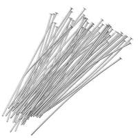 Silver Plated Head Pins 2 Inches 24 Gauge (X50)