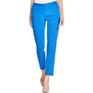 Elie Tahari Womens Jillian Casual Pants Linen Skinny Leg