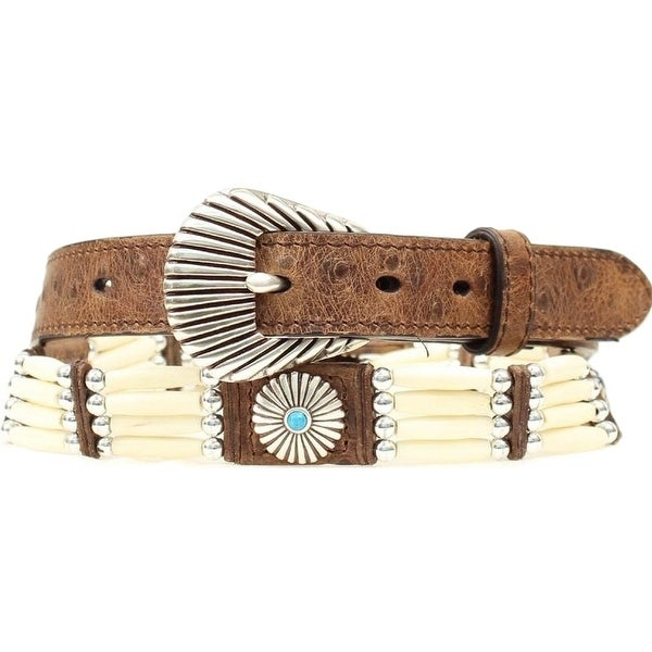 Nocona Western Belt Womens Bead Southwest Concho Brown