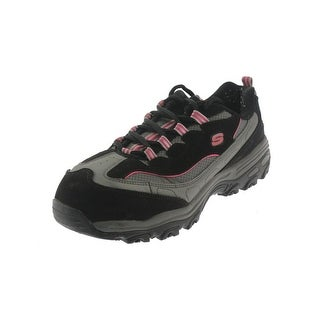 Skechers Womens D'Lite SR-Service Leather Slip Resistant Steel Toe Shoes - 9.5 extra wide (e+, ww)