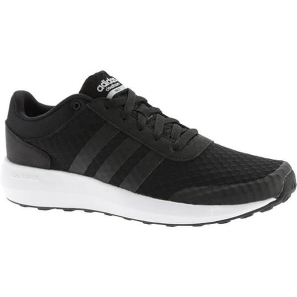 Shop adidas Men s NEO Cloudfoam Race Sneaker Black Black White ... 49d085617