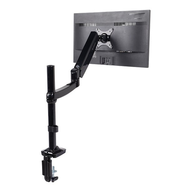 FLEXIMOUNTS M17 Height adjustable Monitor Mount Desk Stands for 10-27 inch LCD Screens ,with Clamp or Grommet Support