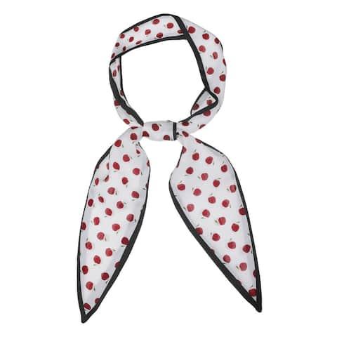 Women Skinny Scarves Neckerchief Leaf Pattern Hair Belt Tie - 120x5cm/47x2 inches(LxW)