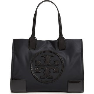 Link to Tory Burch Women's Mini Ella Black Patent Leather-trimmed Nylon Tote Similar Items in Shop By Style