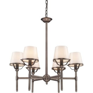 Landmark Lighting 8065 Contemporary / Modern Six Light Chandelier from the Sutton Place Collection