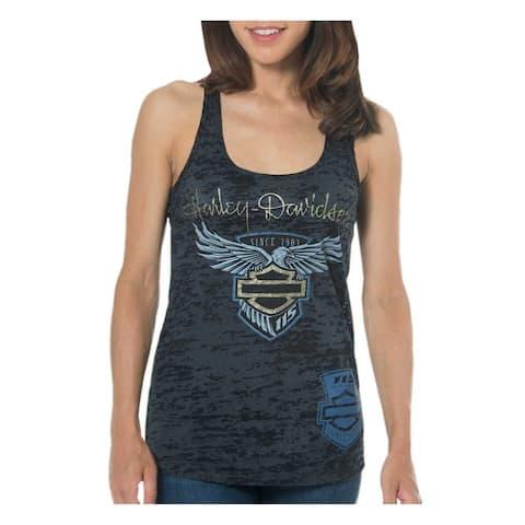 f58385b1 Harley-Davidson Women's 115th Anniversary Beyond Glory Burnout Tank Top,  Black