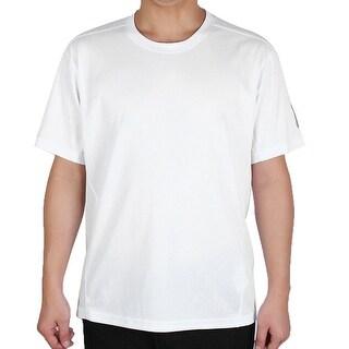 Men Short Sleeve Clothes Casual Wear Tee Cycling Biking Sports T-shirt White L
