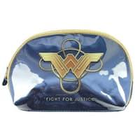 DC Comics Wonder Woman Blue Wristlet Cosmetics Bag