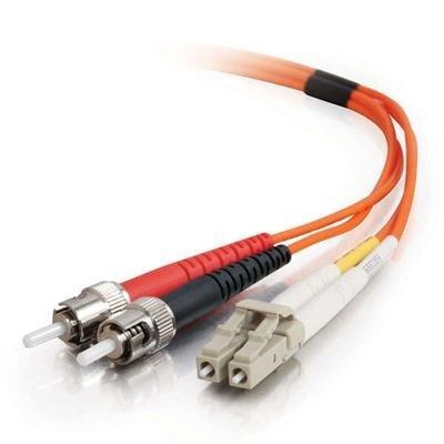C2g 33165 3M Lc-St Duplex 62.5/125 Om1 Multimode Pvc Fiber Optic Cable-Orange