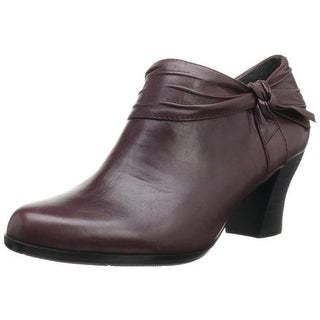 Everybody Womens Cessa Booties Leather Gathered
