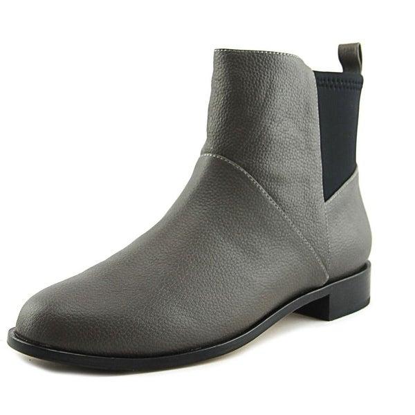 Matt Bernson Harper Women Round Toe Leather Gray Ankle Boot