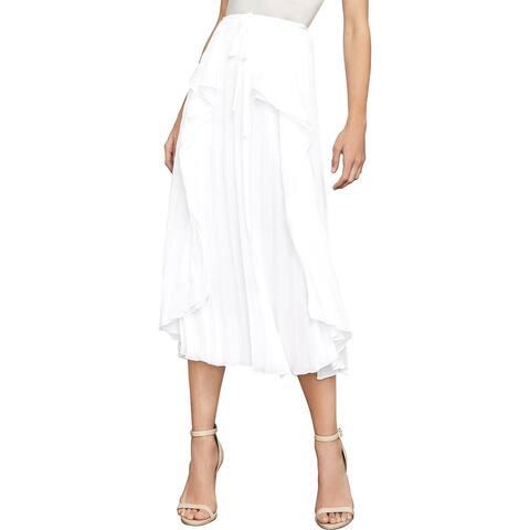 BCBG Max Azria Womens Bre A-Line Skirt Pleated Midi