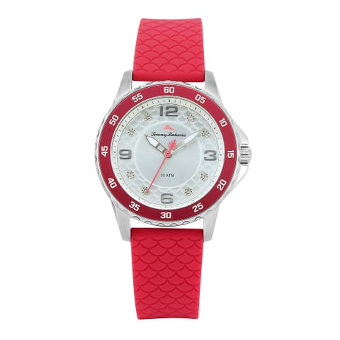 Tommy Bahama Women's Surfside Sport Pink Silicone Strap Watch