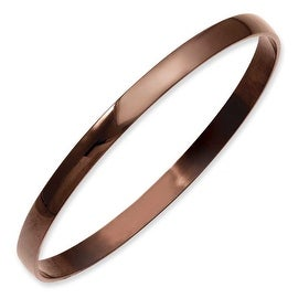 Stainless Steel Chocolate IP Plated Bangle