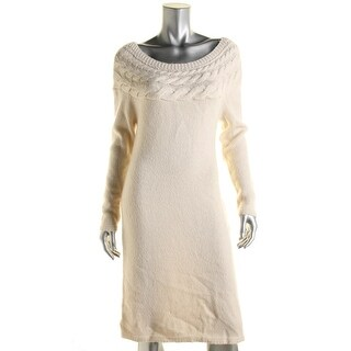 Lauren Ralph Lauren Womens Wool Knit Wear to Work Dress