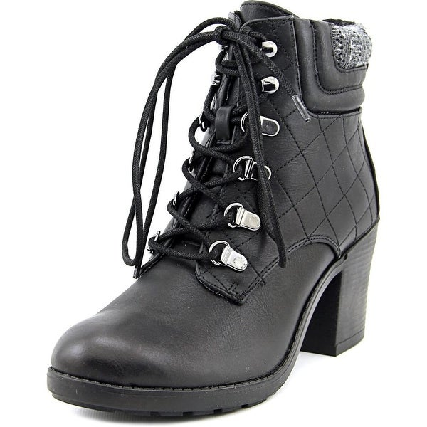 Mia Teddy Women Round Toe Synthetic Black Ankle Boot
