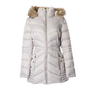 INC International Concepts Faux-Fur Trim Coat