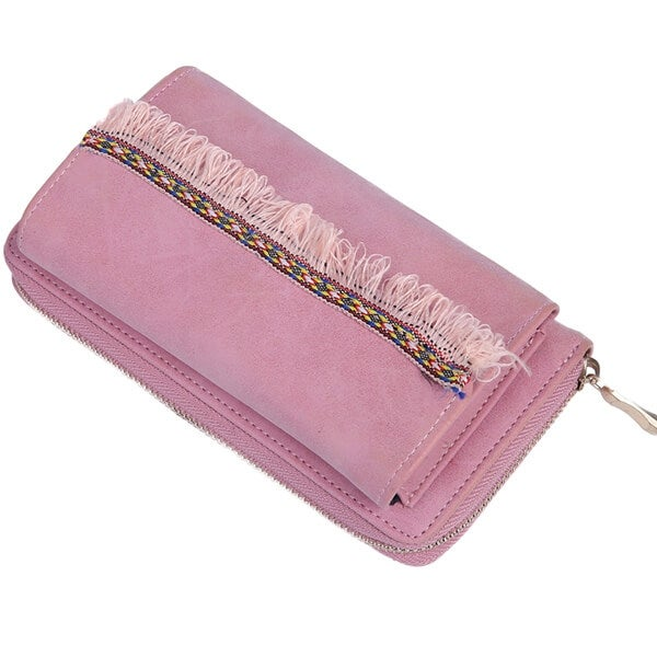 Mad Style Pink Boho Fringe Phone Wallet