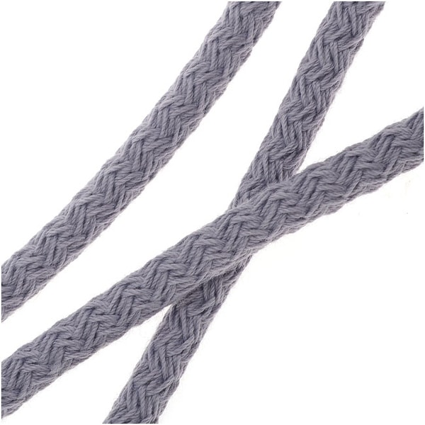 Climbing Rope Nylon Cord, Knot and Braid Necklaces and Bracelets 5mm, 10 Feet, Cool Grey