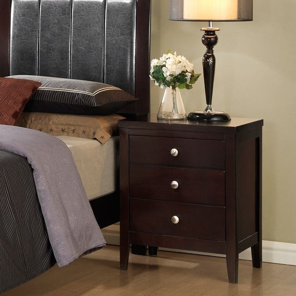 Shop Costway 3 Drawers Nightstand End Bed Sofa Side Table