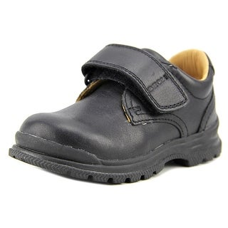 Geox J William Q Toddler  Round Toe Leather Black Oxford