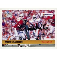 Signed Gaddis Mike Oklahoma Sooners 1992 Courtside Football Card autographed