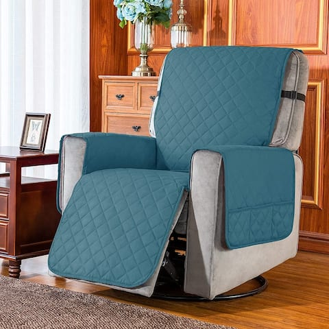Subrtex Reversible Recliner Sofa Slipcover With Pockets