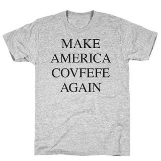 Make America Covfefe Again Athletic Gray Men's Cotton Tee by LookHUMAN