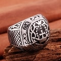 Vienna Jewelry The King's Seal Emblem Stainless Steel Ring - Thumbnail 1