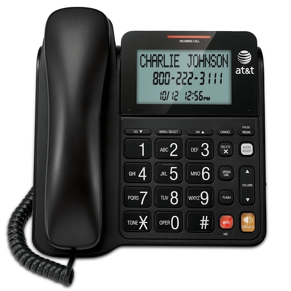 At&T Cl2940 Corded Speakerphone With Large Tilt Display - Black