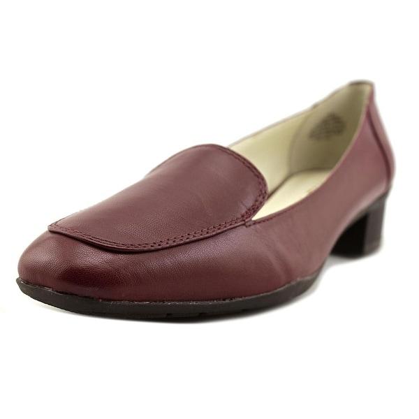 afa8b04156c Shop Anne Klein Daneen Women Apron Toe Leather Burgundy Loafer ...