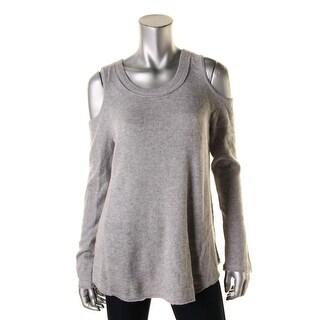 Aqua Womens Pullover Sweater Cashmere Heathered - M