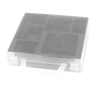 Transparent Shell Black Inner Storage Box Container for Various Sizes Batteries