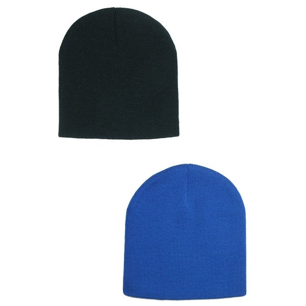 00086beceb6 Shop CTM® 8 Inch Knit Beanie Cap (Pack of 2) - Free Shipping On ...