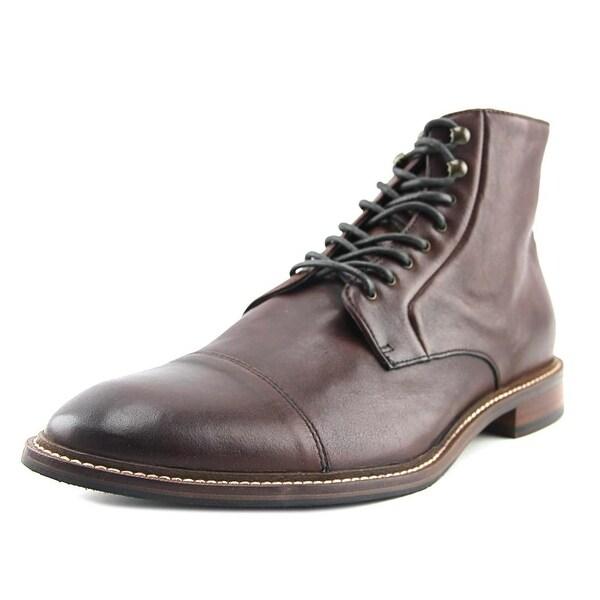 Aston Grey Collection Lonaro Men Cap Toe Leather Brown Chukka Boot
