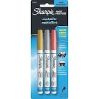 Sharpie Extra Fine Metallic Paint Pens 3/Pkg-Gold, Silver & Copper