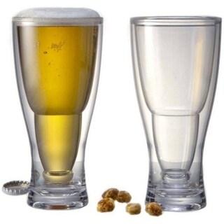 Prodyne BG2 HOPSY-TURVY Upside Down Beer Glass, Pack of 2