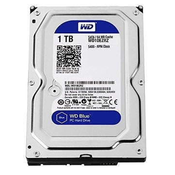 "Western Digital Blue Wd10ezrz 1Tb 3.5"" Desktop Internal Hard Disk Drive With 5400 Rpm Sata 6 Gbps 64Mb Cache"
