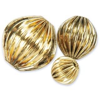 Blue Moon Value Pack Metal Beads-Antique Gold Rounds 30/Pkg