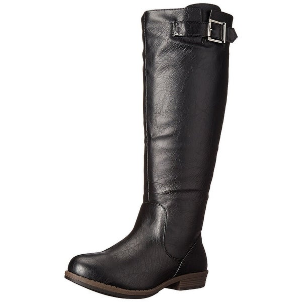 Journee Collection Womens Amia Closed Toe Knee High Riding Boots