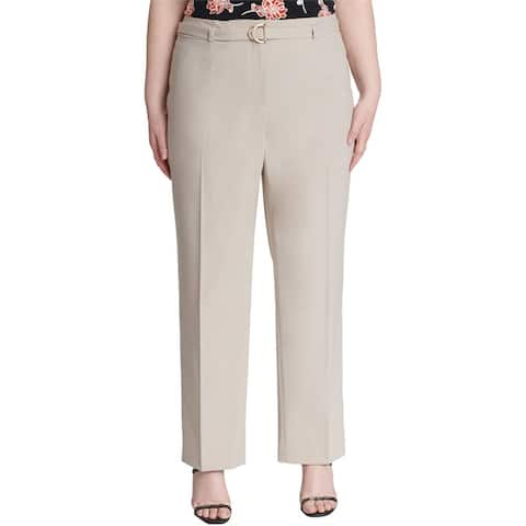Calvin Klein Womens Belted Casual Trouser Pants