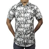 Palm Tree Print Button Down Shirt