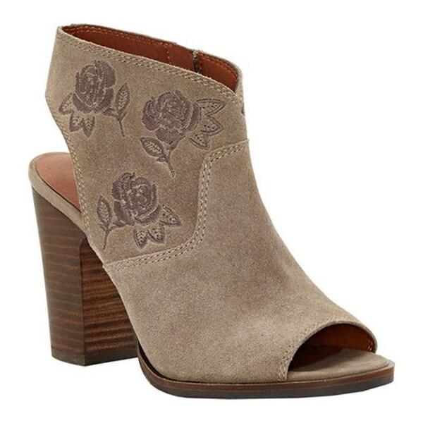 43ac44c2cde36 Lucky Brand Women  x27 s Listana Block Heel Sandal Brindle Suede Leather