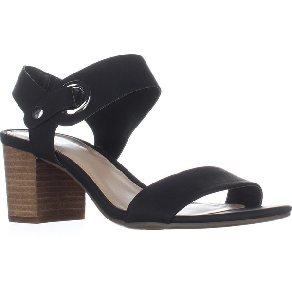 B35 Birdie Block Heel Dress Sandals, Black