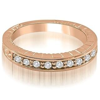 0.30 ct.tw Antique Style Round Cut Diamond Wedding Ring - White H-I