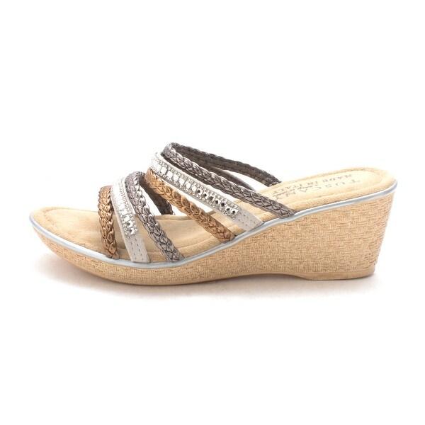 Easy Street Womens Pilato Open Toe Casual Platform Sandals
