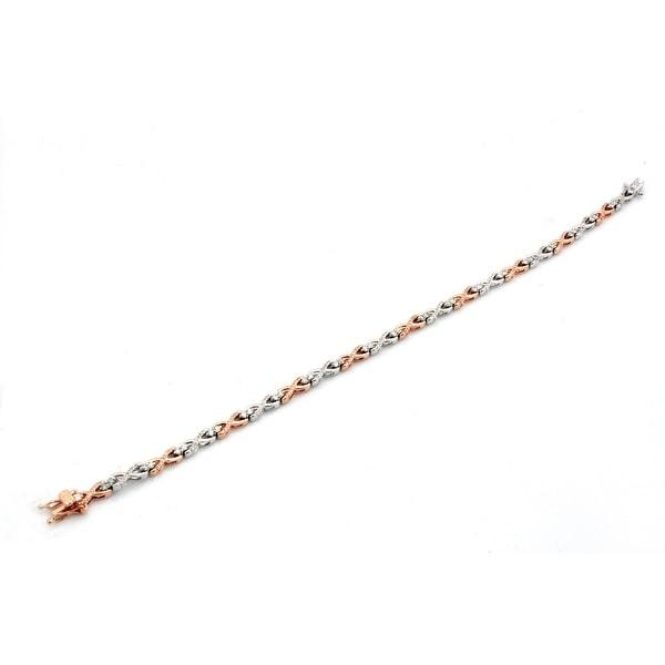 Brand New 0.96 Carat Natural Diamond Twisted Bracelet
