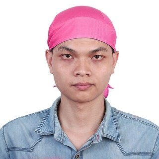 Motorcycle Breathable Headband Cycling Head Scraf Headwrap Sweat Cap Hat Magenta
