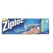 """Ziploc 00388 Freezer Storage Bags, 7"""" x 8"""""""