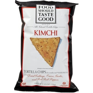 Food Should Taste Good - Kimchi Tortilla Chips ( 12 - 5.5 oz bags)